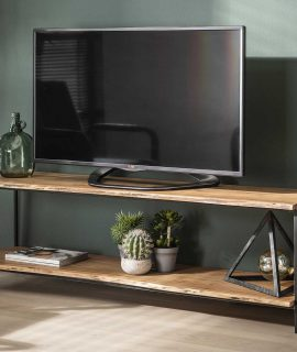 Tv-meubel Edge 150 Cm Breed In Acacia Naturel