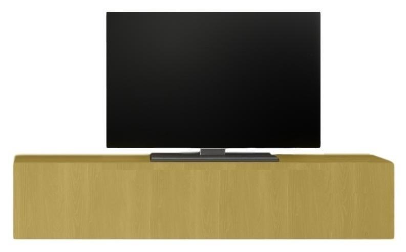 Zwevend Tv-meubel Tesla 138 cm breed in geel