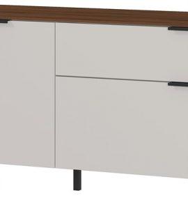 Tv-meubel California 192 Cm Breed In Cashmere Met Walnoot