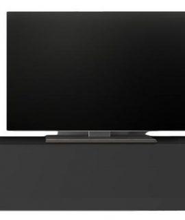 Zwevend Tv-meubel Tesla 138 Cm Breed In Hoogglans Grijs