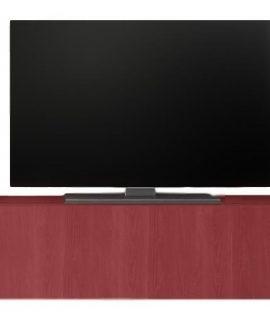 Zwevend Tv-meubel Tesla 138 Cm Breed In Rood