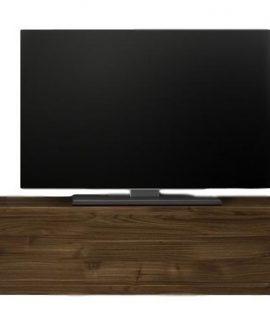 Zwevend Tv-meubel Tesla 138 Cm Breed In Walnoot