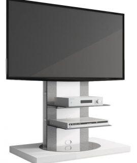Tv-meubel Roma 2 Van 126 Cm Hoog In Hoogglans Wit