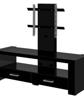 Tv-meubel Monaco Van 138 Cm Breed In Hoogglans Zwart