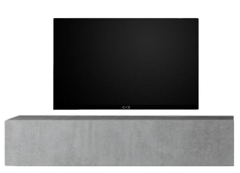 Zwevend Tv-meubel Tesla 138 cm breed in grijs beton