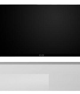 Zwevend Tv-meubel Tesla 138 Cm Breed In Hoogglans Wit