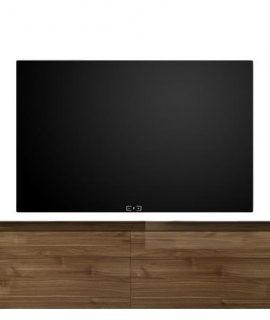 Zwevend Tv-meubel Tesla 276 Cm Breed In Walnoot
